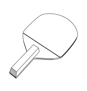 ラケット イラスト 卓球